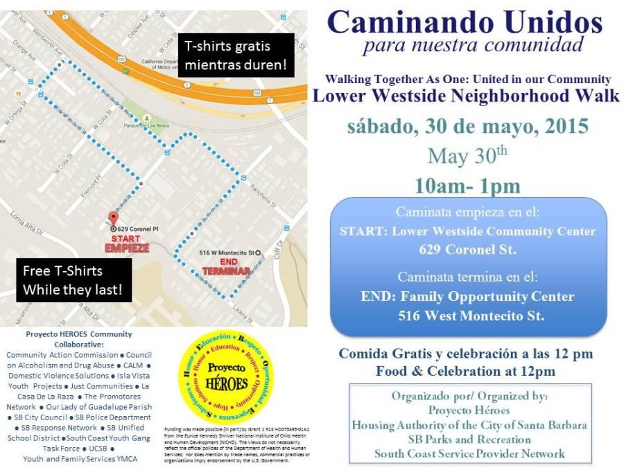 Caminando unidos flyer_FINAL May 30 | Maryam Kia-Keating, Ph D